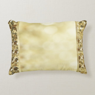 Vintage Sequin Gold Bokeh Template Decorative Cushion