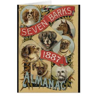 Vintage Seven Barks Almanac 1887, Card