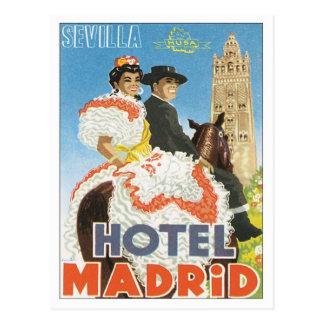 Vintage Sevilla Spain Hotel Postcard