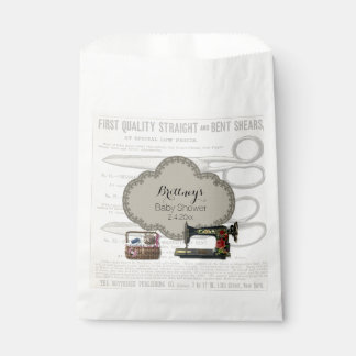 Vintage Sewing Baby Shower Favour Bags