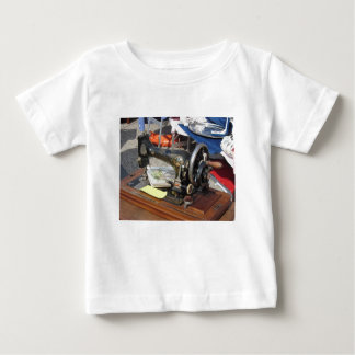 Vintage sewing machine at flea market baby T-Shirt