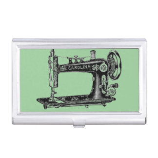 Vintage Sewing Machine Business Card Holder
