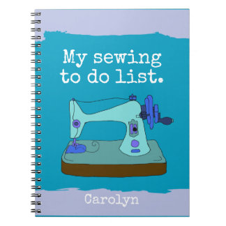 Vintage sewing machine - My sewing to do list Notebook