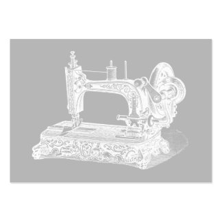 Vintage Sewing Machine - Retro Machines White Gray Pack Of Chubby Business Cards