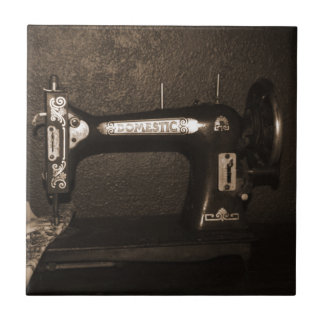 Vintage Sewing Machine Tile