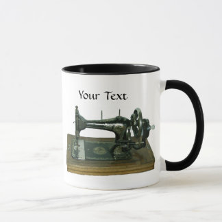 Vintage Sewing Machine with Text Mug