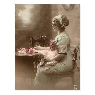 Vintage Sewing Postcard