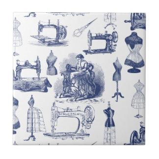 Vintage Sewing Toile Tile