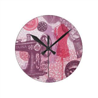Vintage Sewing Wall Clock