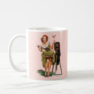Vintage Sexy Lady - by Bass - Gift Mug