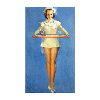 Vintage Sexy Nurse Uniform Canvas Print