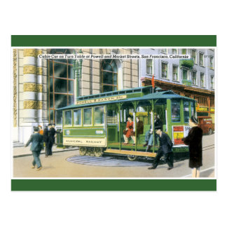 Vintage SF Cable Car Postcard
