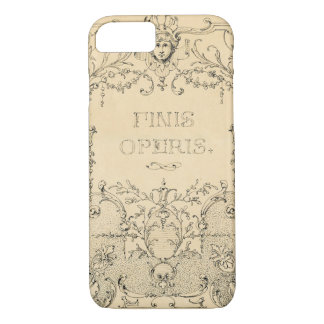 Vintage  Shabby Chic Brown iPhone 8/7 Case