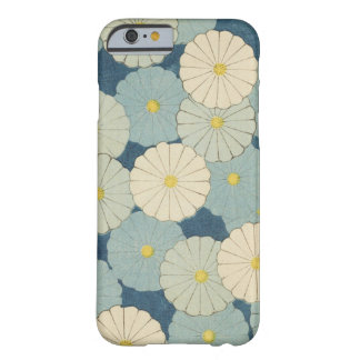 Vintage Shabby Chic Country Blue Flower Design Barely There iPhone 6 Case