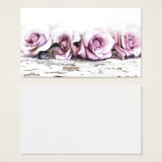 Vintage Shabby Chic Roses Business Cards
