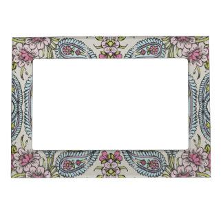 Vintage Shabby Floral Magnetic Picture Frame