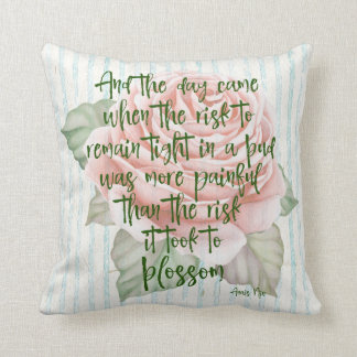 Vintage Shabby: Risk to Blossom Quote Cushion
