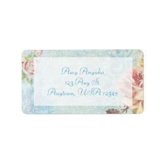 Vintage Shabby Roses Address Label