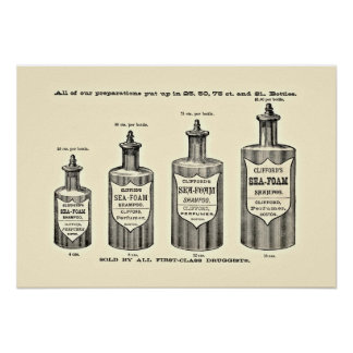 Vintage Shampoo Poster