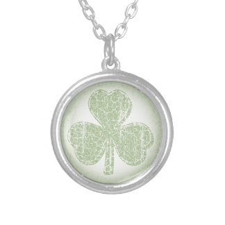 Vintage Shamrock Silver Plated Necklace