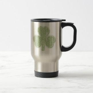 Vintage Shamrock Travel Mug