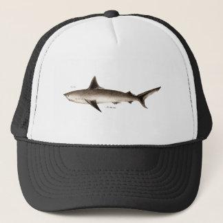 Vintage Shark Illustration - Retro Sharks Template Trucker Hat