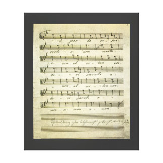 Vintage Sheet Music, Antique Musical Score 1810 Stretched Canvas Print