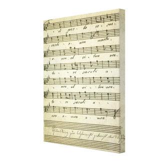 Vintage Sheet Music, Antique Musical Score 1810 Canvas Print