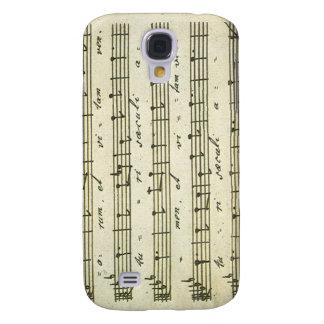 Vintage Sheet Music, Antique Musical Score 1810 Galaxy S4 Case