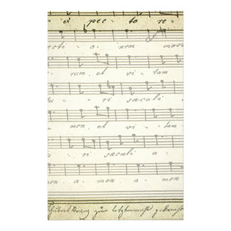 Vintage Sheet Music, Antique Musical Score 1810 Personalised Stationery