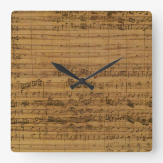 Vintage Sheet Music by Johann Sebastian Bach Clock