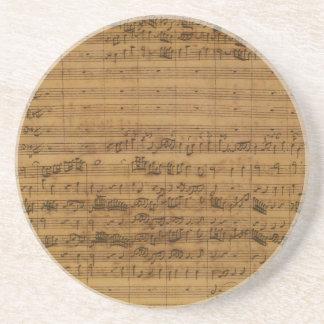 Vintage Sheet Music by Johann Sebastian Bach Beverage Coasters