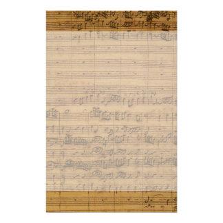 Vintage Sheet Music by Johann Sebastian Bach Custom Stationery
