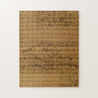 Vintage Sheet Music by Johann Sebastian Bach Jigsaw Puzzles