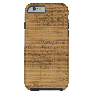 Vintage Sheet Music by Johann Sebastian Bach Tough iPhone 6 Case
