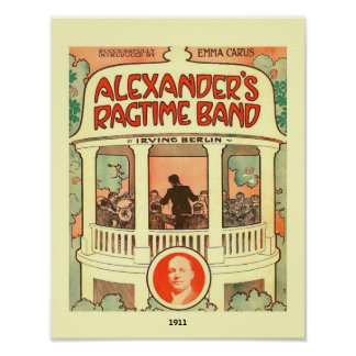 Vintage Sheet Music Cover Alexander's Ragtime Band Poster