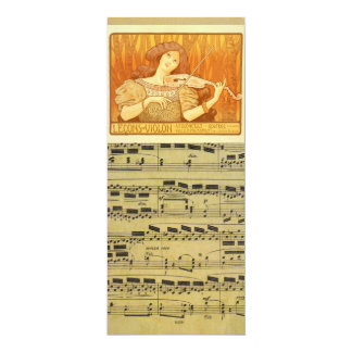 Vintage Sheet Music French Violin Lessons Ad 4x9.25 Paper Invitation Card