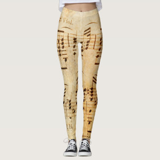 Vintage Sheet Music Leggings