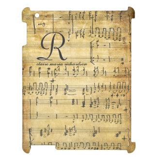 Vintage Sheet Music Monogram iPad Cases
