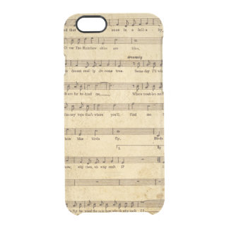 Vintage Sheet Music Notes Aged Cream Colored Lyric Clear iPhone 6/6S Case