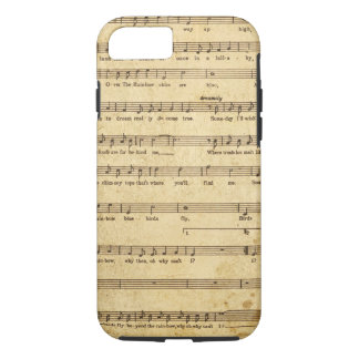 Vintage Sheet Music Notes Aged Cream Colored Lyric iPhone 7 Case