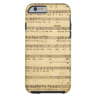 Vintage Sheet Music Notes Aged Cream Colored Lyric Tough iPhone 6 Case