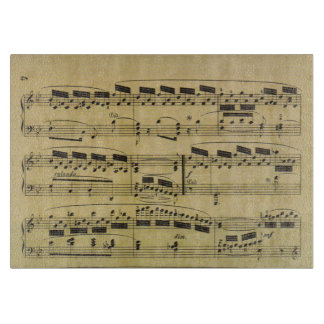 Vintage Sheet Music Paper Musical Notes Cutting Board