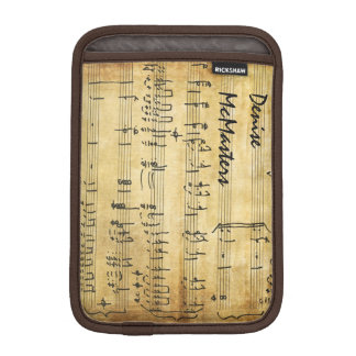 Vintage Sheet Music - Personalized Name iPad Mini Sleeves
