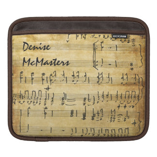 Vintage Sheet Music - Personalized with Name iPad Sleeves