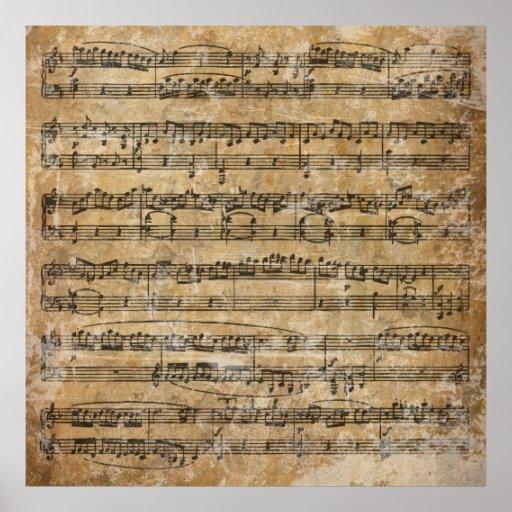 Vintage Sheet Music Print