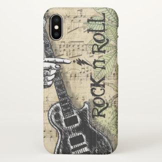 Vintage Sheet Music Rock N Roll iPhone X Case