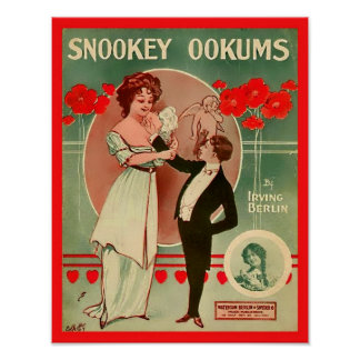 Vintage Sheet Music Snookey Ookums 1913 Cover Copy Poster