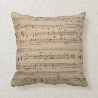 Vintage Sheet Music, Song of the Old Man, 1822 Throw Pillows