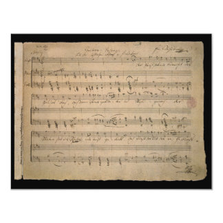 Vintage Sheet Music, Song of the Old Man, 1822 Custom Invitations